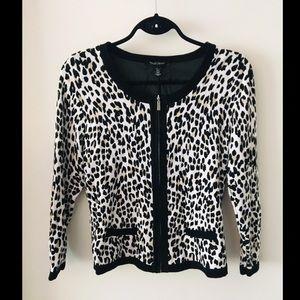 White House Black Market Leopard Cardigan